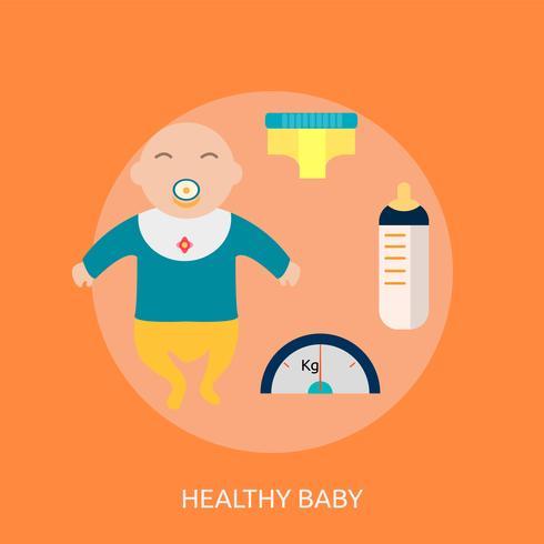 Gesundes Baby-Begriffsillustration Design vektor
