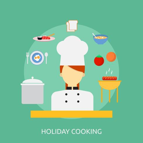 Holiday Cooking Conceptual illustration Design