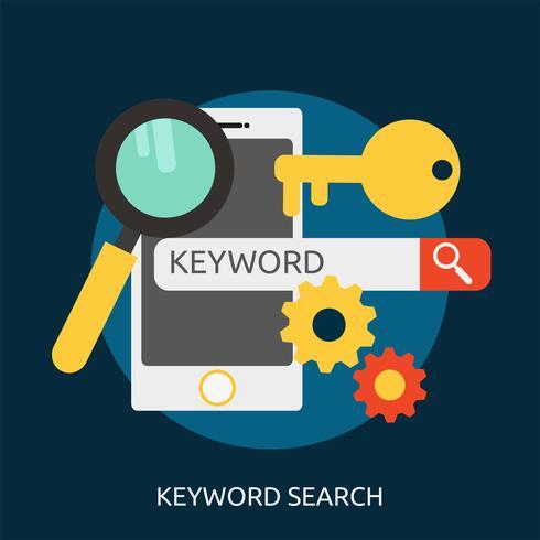 Ilustração conceitual de pesquisa de palavra-chave Design