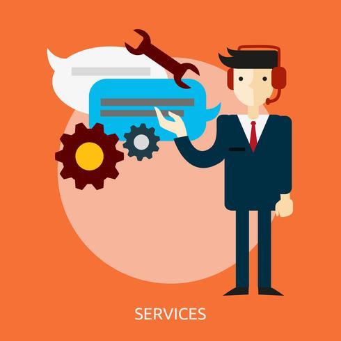 Ilustração conceitual de serviços Design