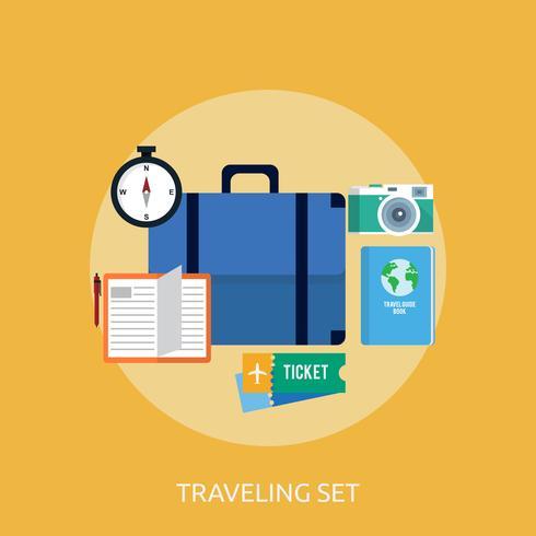Traveling Set Konceptuell illustration Design