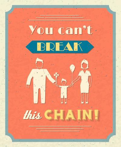 Poster retro de família