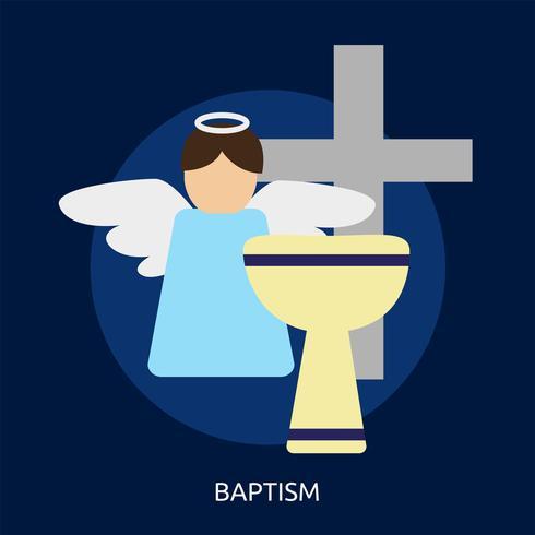 Ilustração conceitual de batismo Design