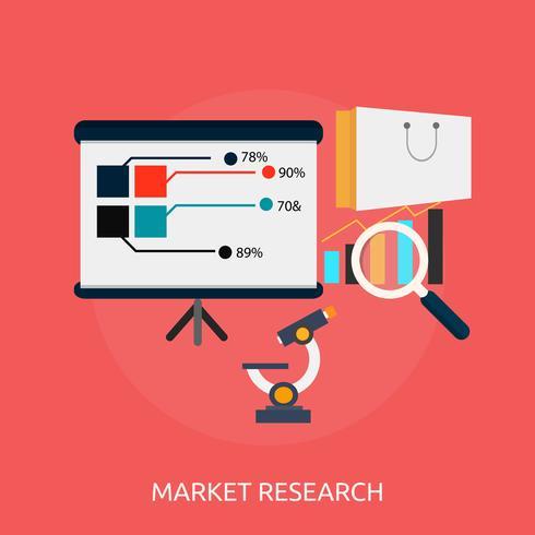 Pesquisa de mercado 2 ilustração conceitual Design