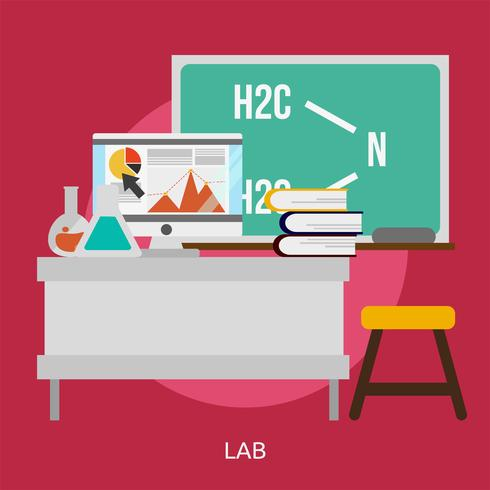 Lab conceptual ilustración diseño vector