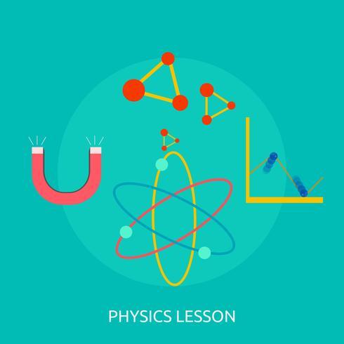 Ilustração conceitual de lição de física Design