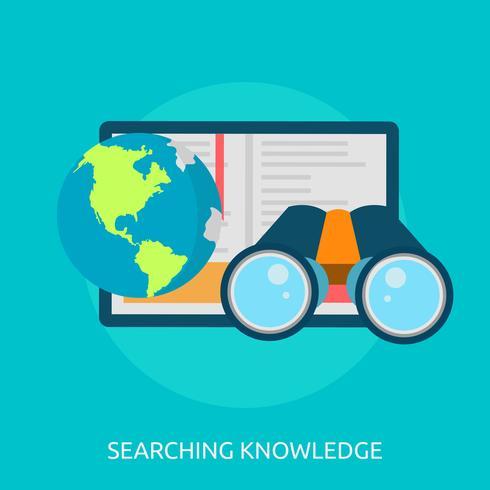 Pesquisando a ilustração conceitual de conhecimento Design
