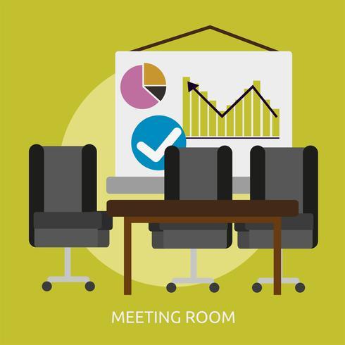 Meeting Room Conceptual illustration Design vector