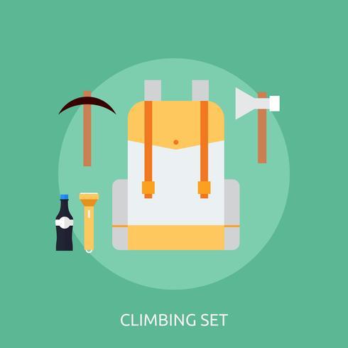 Klettern gesetztes Begriffsillustration Design