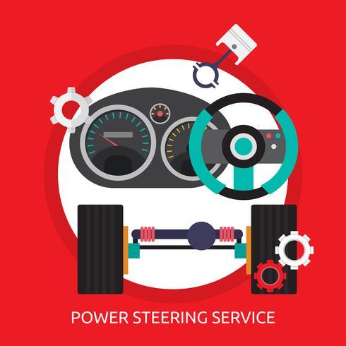 Power Steering Service Conceptual illustration Design