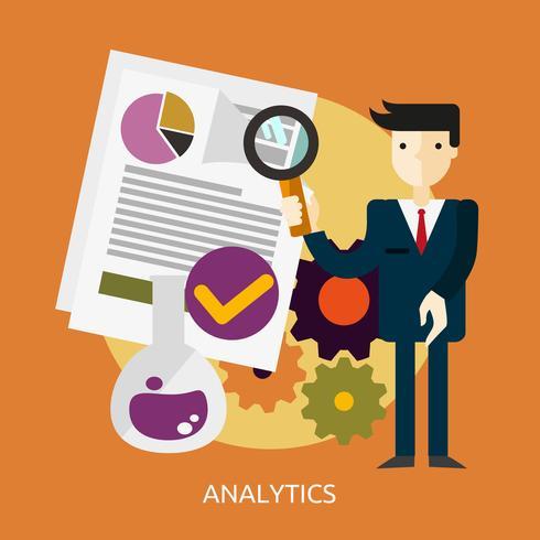 Ilustração conceitual de análise Design