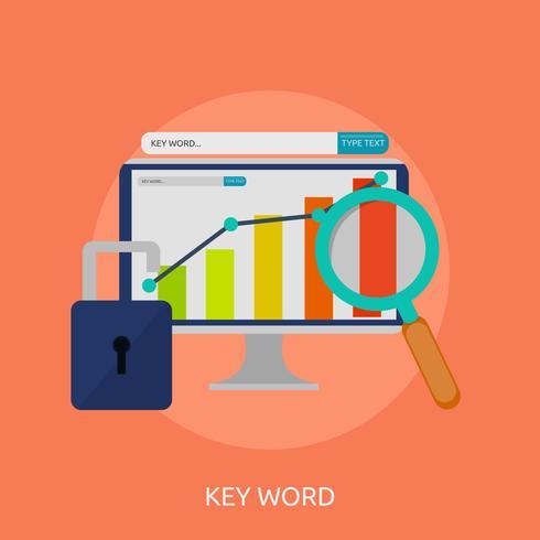 Progettazione concettuale dell'illustrazione di parola chiave