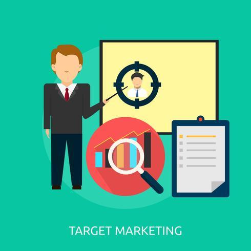 Projeto de ilustração conceitual de marketing de alvo
