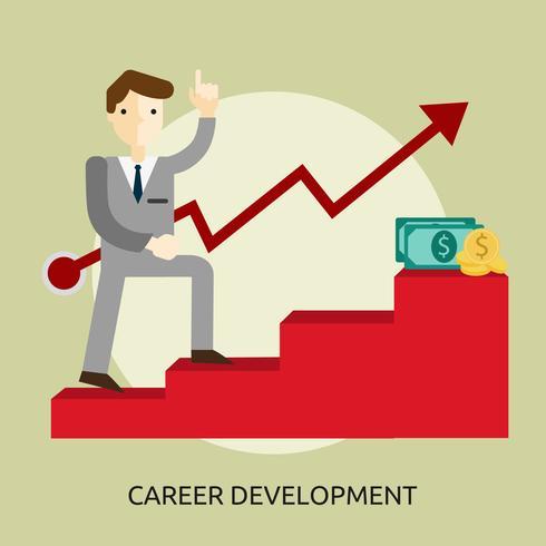 Progettazione concettuale dell'illustrazione di sviluppo di carriera