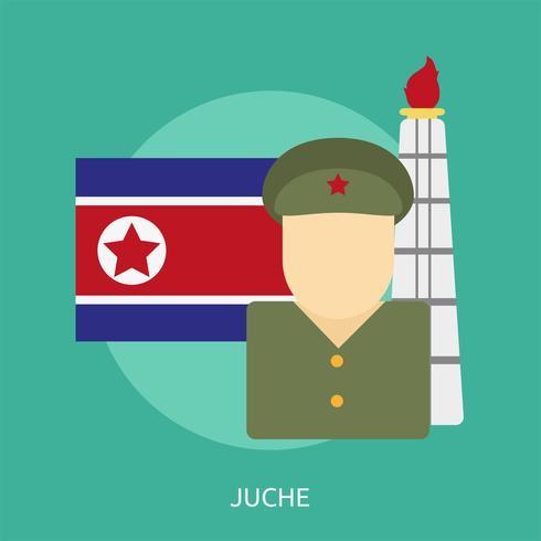 Juche Conceptual illustration Design