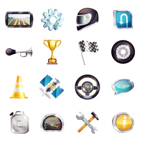 Auto Racing Elements Set vector