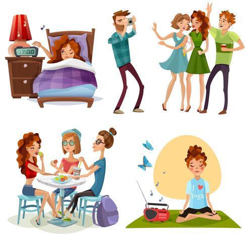 Bom dia com amigos 4 ícones