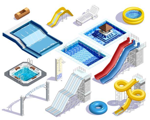 Conjunto de elementos do Aqua Park