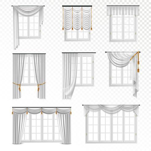 Realistisk Gardin Windows Set