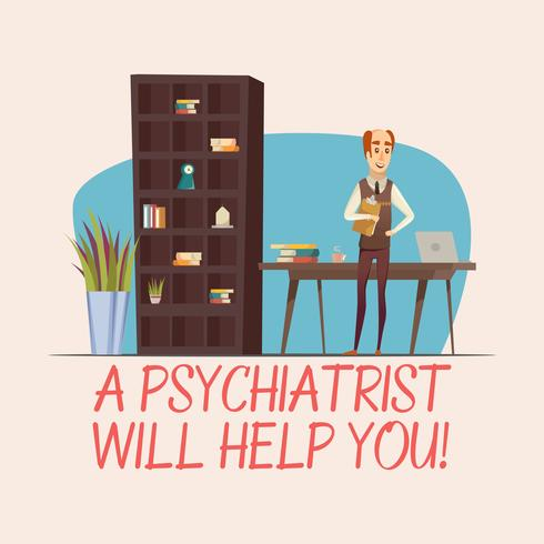 Ilustração plana de psicólogo vetor