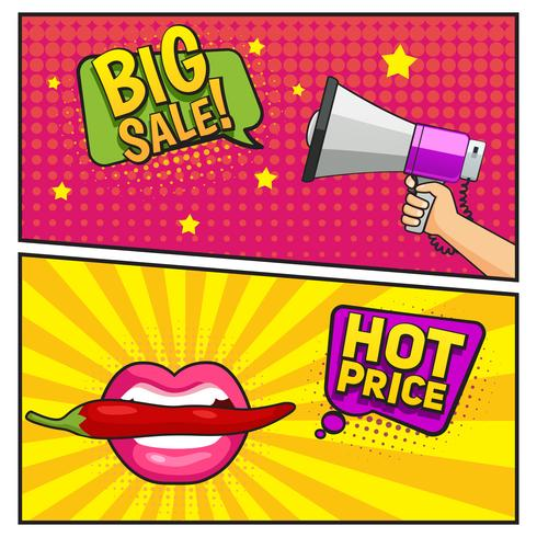 Big Sale Comic Style Banner