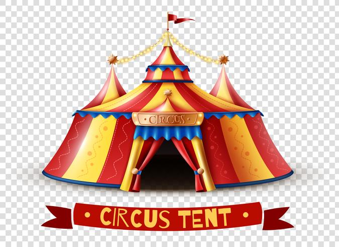 Imagen de fondo transparente de carpa de circo vector