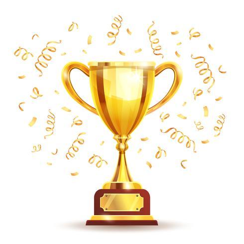 Copa de los ganadores de oro vector