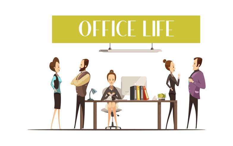 Ilustração de vida de escritório vetor