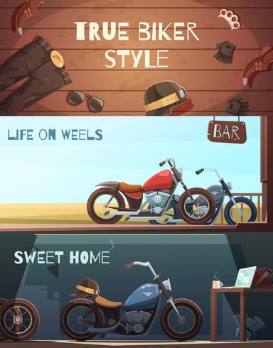Roadster Motorcycle Banners Set