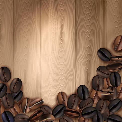 Coffee Beans Realistic Background