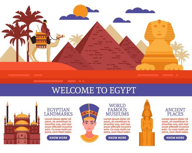 Egipto viajes ilustración vectorial vector