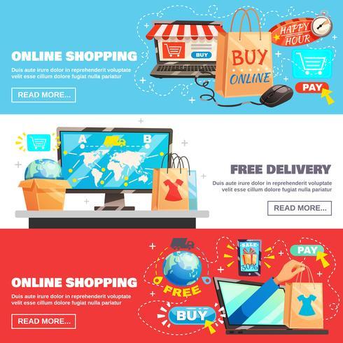 verzameling e-commerce banners
