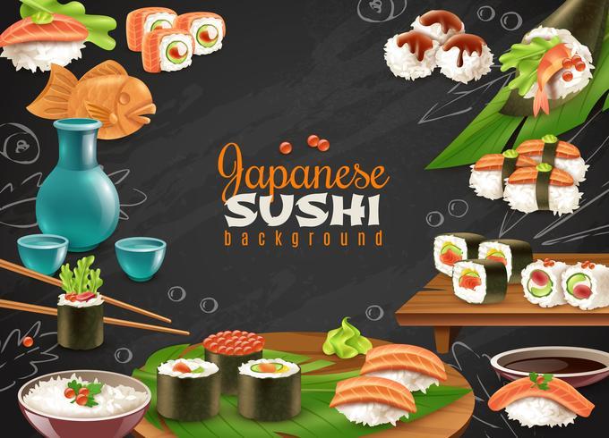 Fond de Sushi japonais