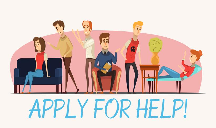 Apply For Help To Psychologist Poster vector