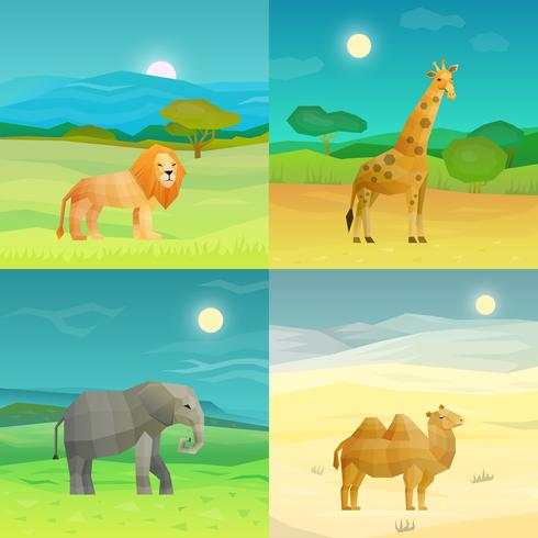 Animals Background Set vector