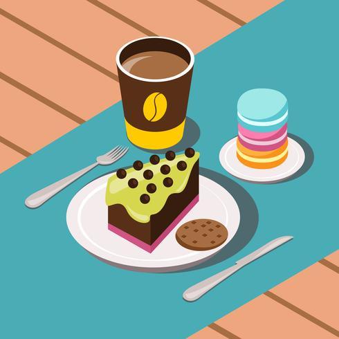 Composición dulce desayuno vector