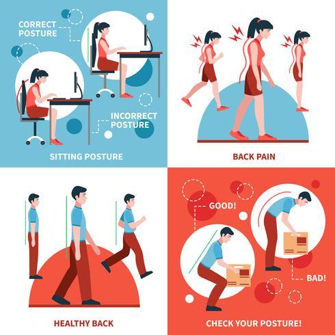 Postura 2x2 Design Concept Set vector