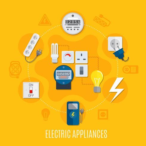 Electric Appliances Round Design