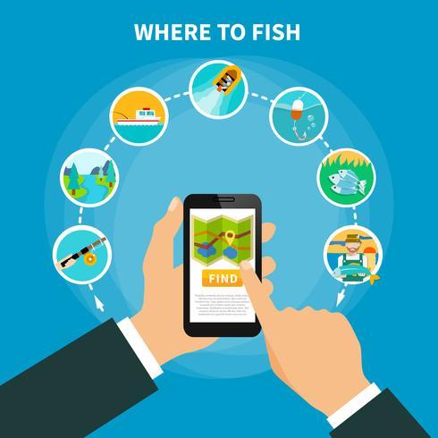 Fischereibereichsucher-Konzept