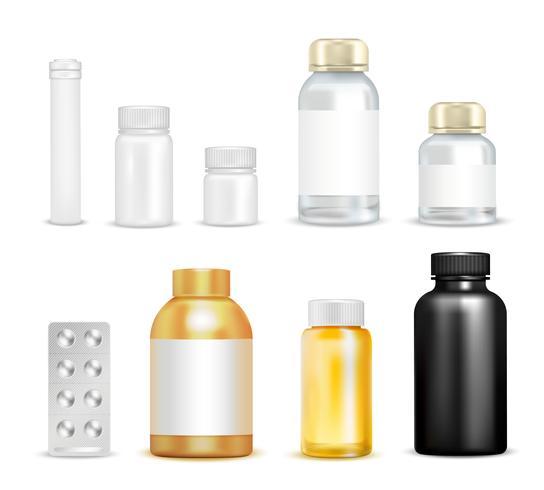 Medication Vitamins Packaging Set