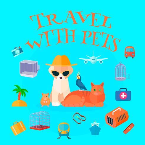 Viajar con mascotas fondo