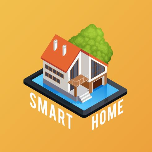 Smart Home Isometric Composition Poster