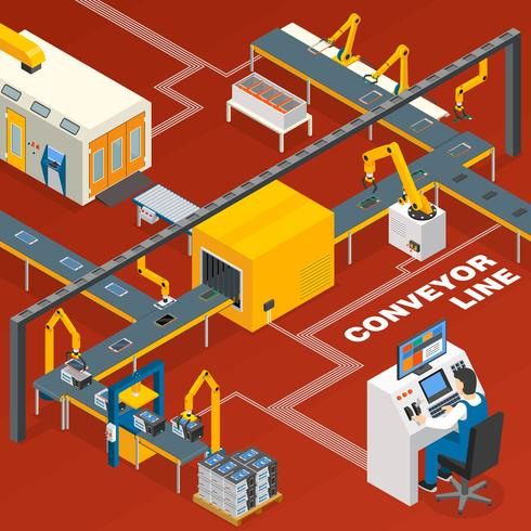 Conveyor Line And Operator Concept