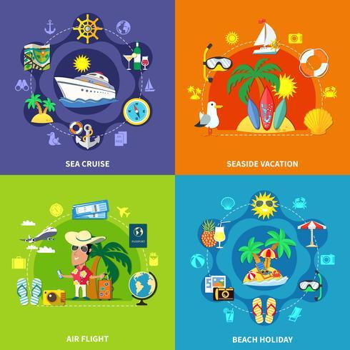 Vacation Travel Design Concept