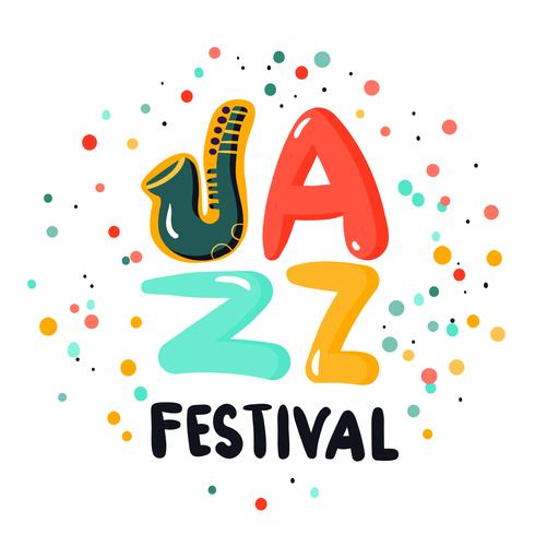 jazz skylt koncept vektor