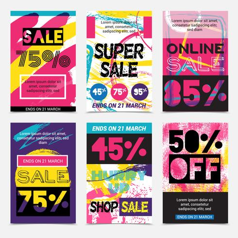 Sale Bright Posters Set