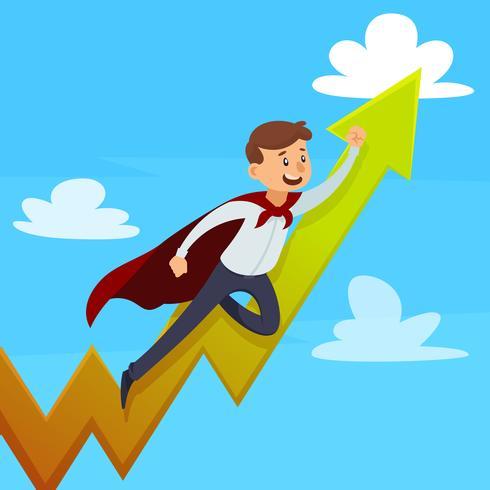 Dynamisk karriärillustration vektor