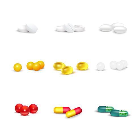 Ensemble de pilules 3D
