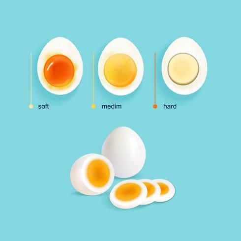 Eierenset met gekookte eieren