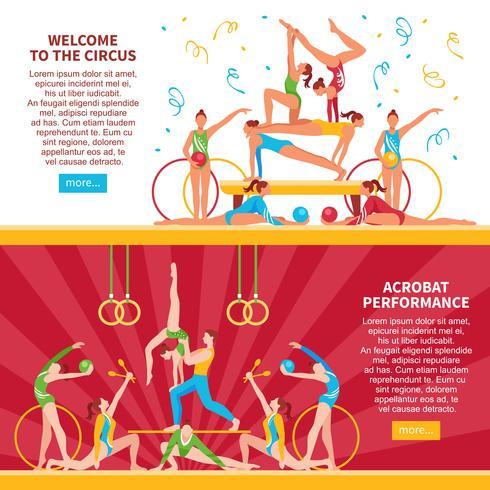 Banner di circo acrobati